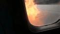 VIDÉO. Le moteur de leur avion prend feu avant le décollage