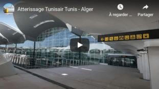 VIDÉO – Atterrissage d'un vol de Tunisair à l'aéroport d'Alger