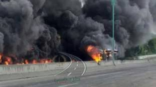 Spectaculaire accident près de l'aéroport de Constantine (Photos)