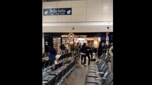 VIDÉO. Une bagarre générale éclate dans un aéroport à Londres