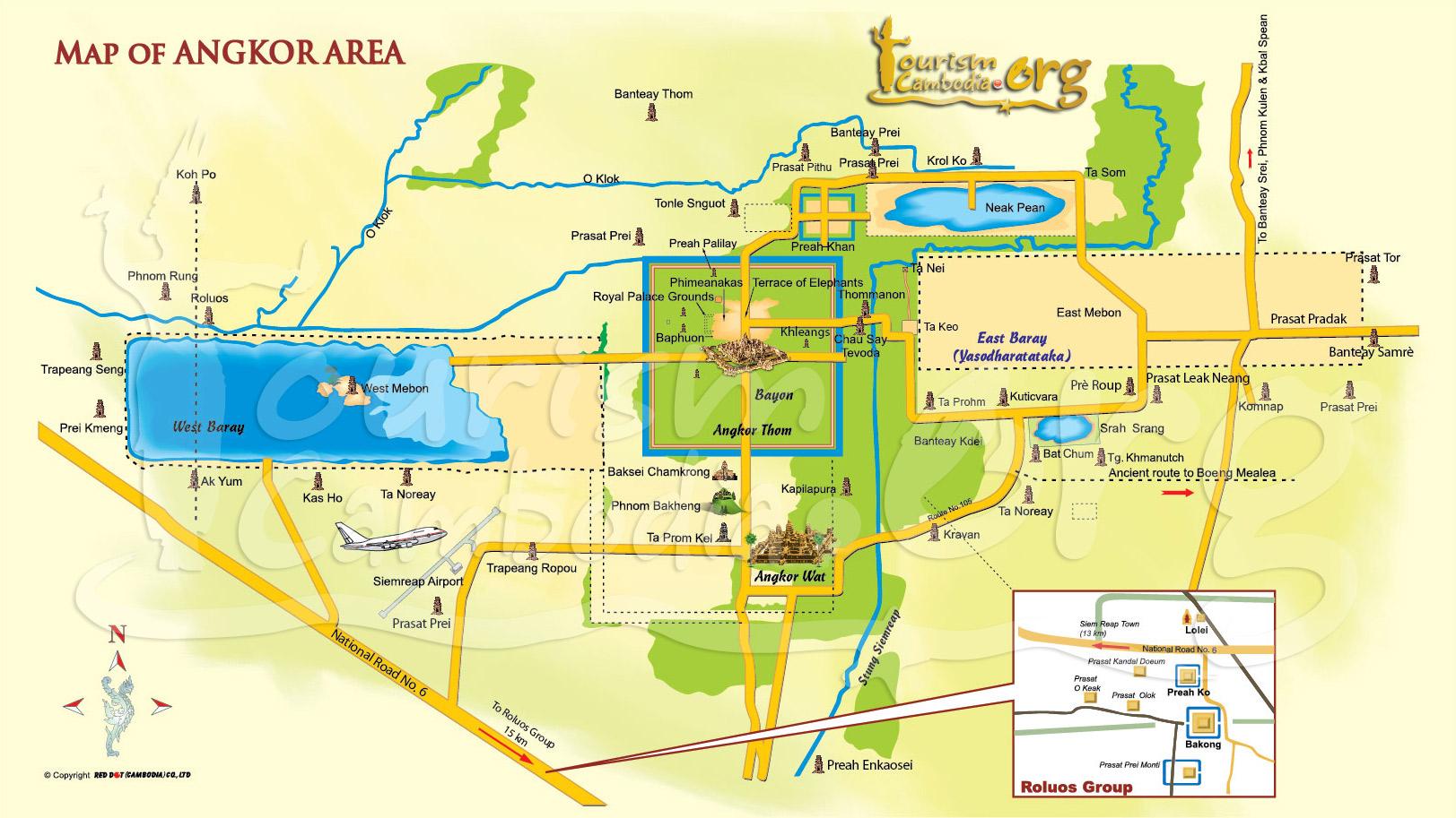 Resultado de imagen de turismo angkor oficial mapa