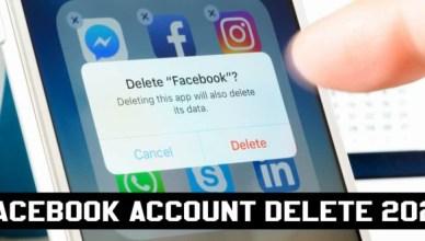 Facebook Account Delete 2021