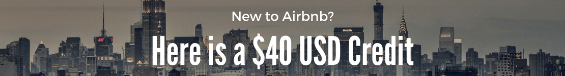$40 USD airbnb credit for first time users