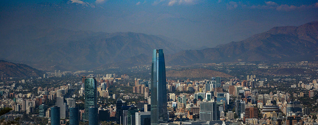 santiago city skyline