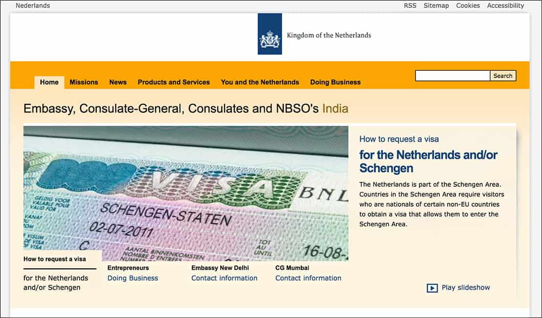 consulate websites