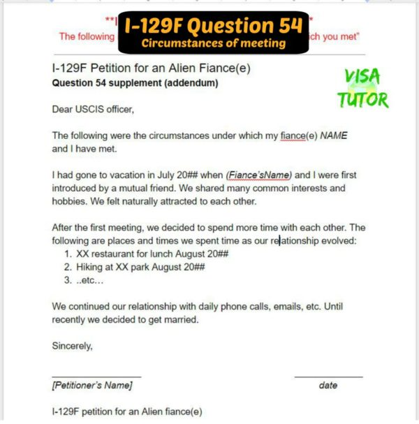 I-129F 54 Circumstances Of Meeting « Visa Tutor