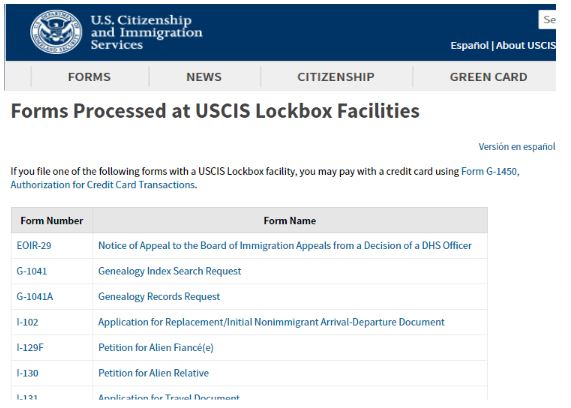 The USCIS Lockbox facilities process many petitions. One of which is our I-129f for a fiance visa