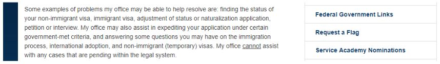 Example of Congressman Sandy Levin's willingness to help k-1 visas