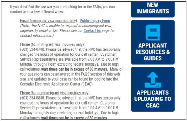 Contact the NVC during your fiance K-1 visa to get your case number
