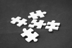 The pieces should fit together like a puzzle.