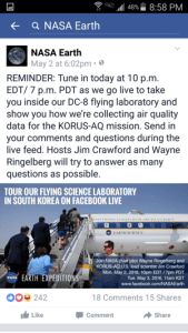 Nasa's Facebook Live Promotion