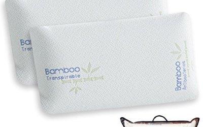 Pack de 2 Almohadas Viscoelásticas Modelo MINI VIAJE, Color Blanco, Medida 43 cm