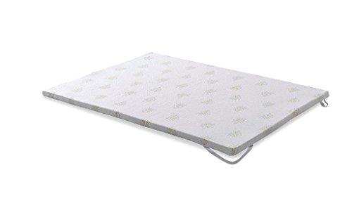 Camapolis-Topper viscoelastico de 5 cm para cama de 135×190, Aloe Vera y malla transpirable