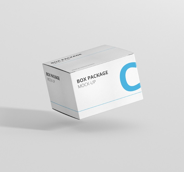 Download Package Box Mock-Up - Flat Square - Premium and Free ...