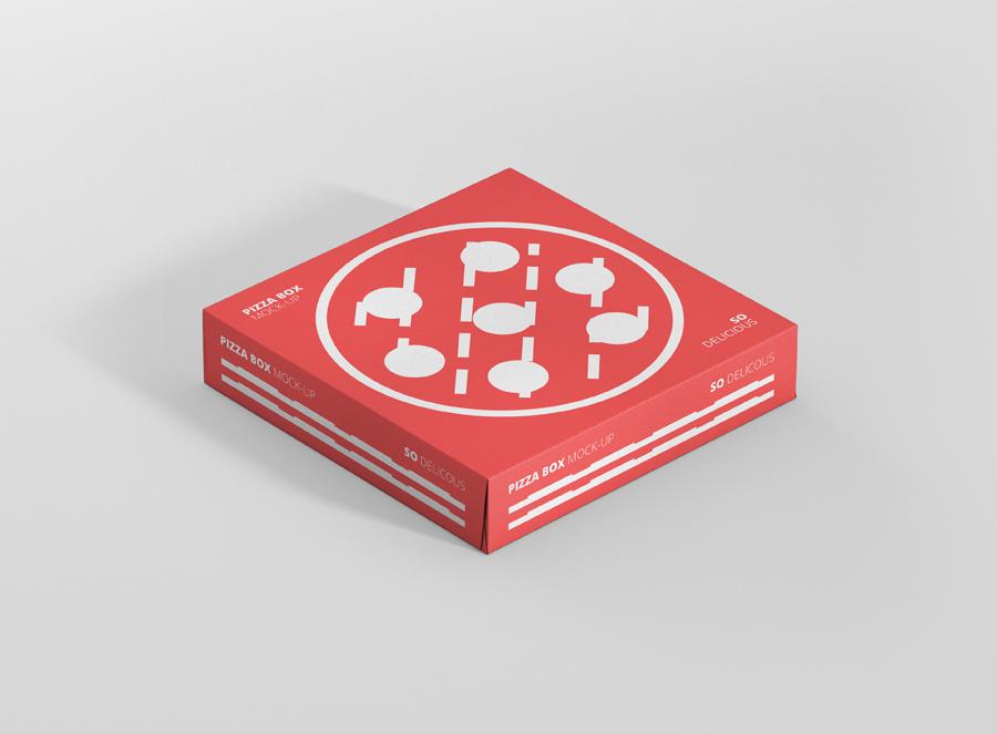 pizza box mockup double