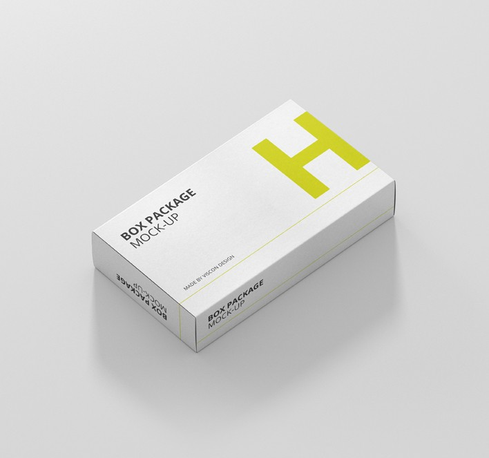 Download Package Box Mock-Up - Wide / Flat Rectangle - Premium and ...