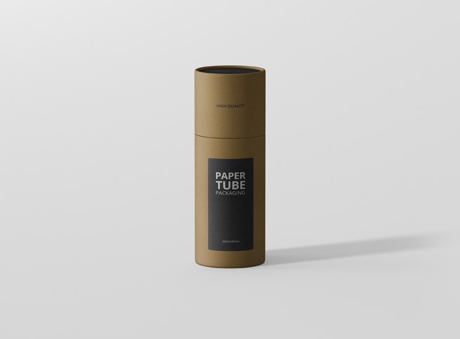 Vector set blank white cardboard cylinder box mockup. Paper Tube Mockup Slim Short Premium And Free Mockups