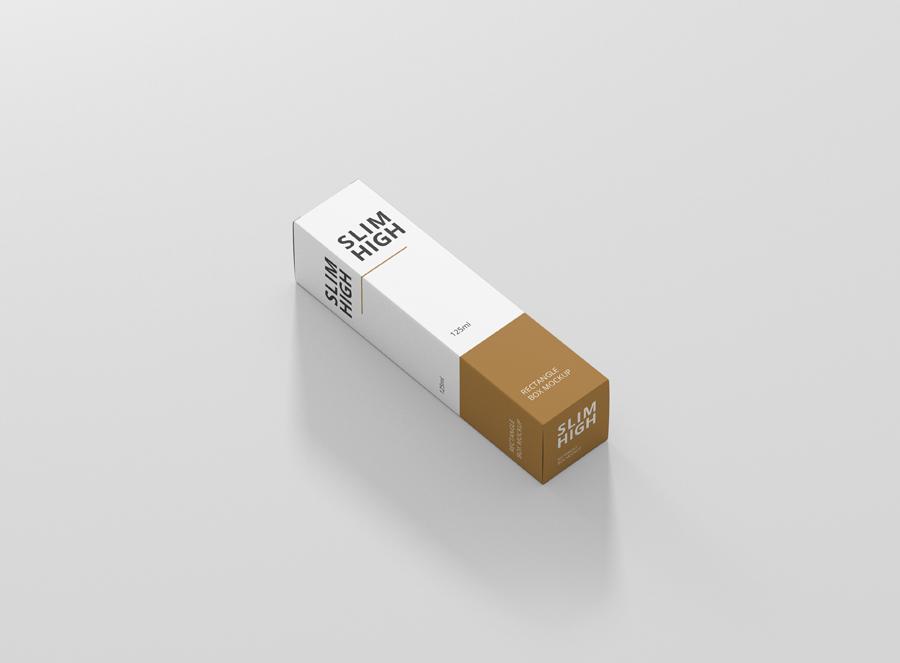 Download Box Mockup Slim High Rectangle - Premium and Free Mockups