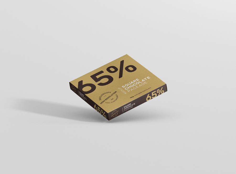 Download Chocolate Packaging Mockup Square - Premium and Free Mockups