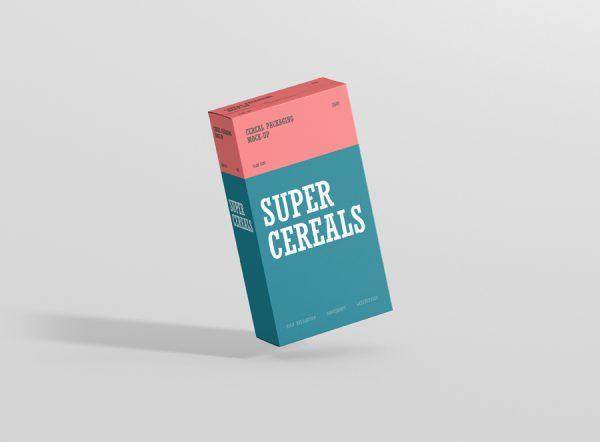 Download Cereals Box Mockup Slim Size - Premium and Free Mockups