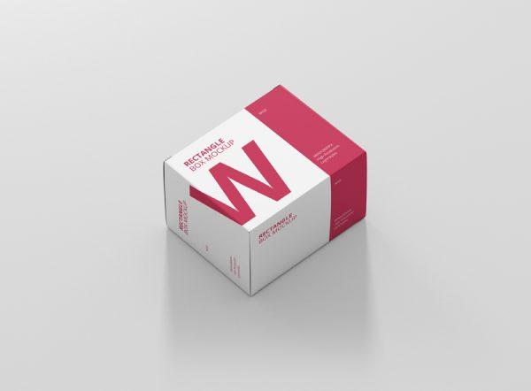 Download Box Mockup Wide Rectangle Big Size - Premium and Free Mockups