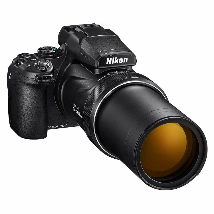 Nikon Coolpix P1000 compact camera Zwart visdief c
