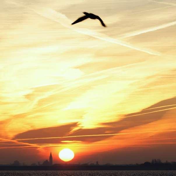 ondergaande zon sjaak huijer