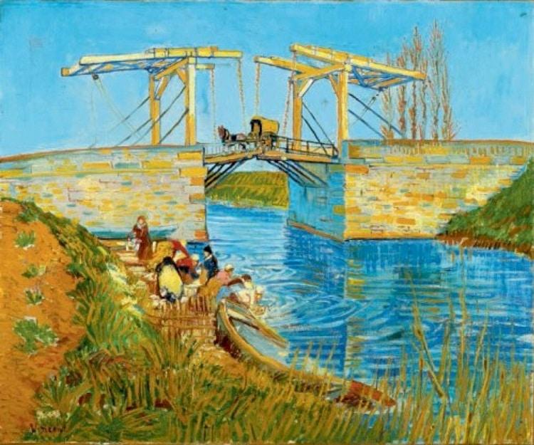 vogels kijken bij Pont Van Gogh
