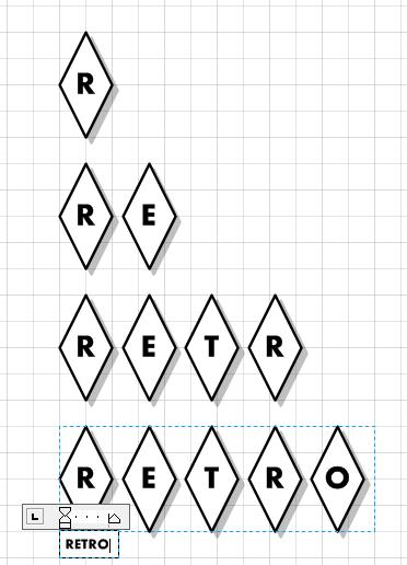 Repeating Diamond Title Visio Shape