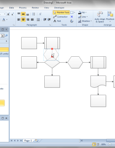 When also shift flowchart shapes automatically  visio guy rh visguy
