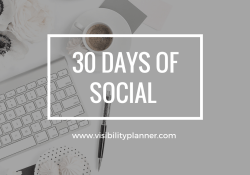 30 days of social printable - visibility planner - printed portal