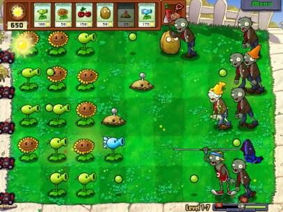 Scène du jeu Plants vs Zombies