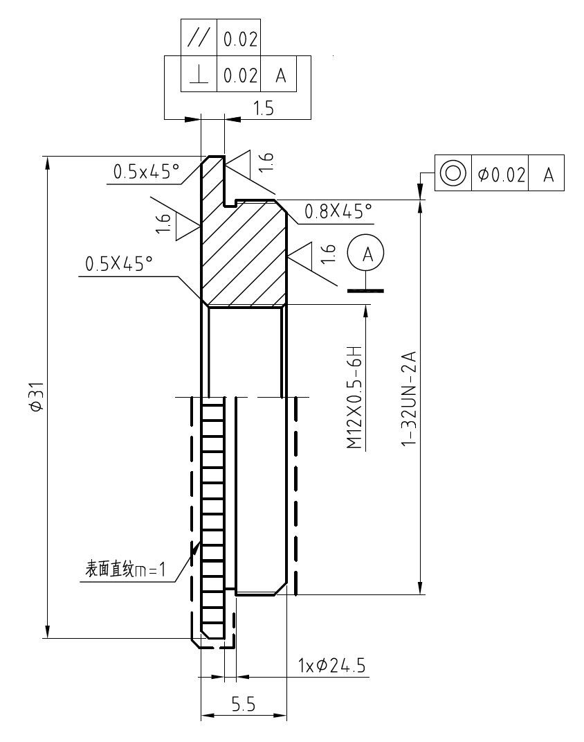 C-CS-Mount-2-S-Mount(M12x0.5)-Adapter for Board Lenses