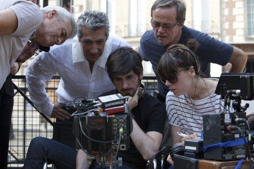 """Alain Chabat sur le tournage du film """"les Gamins""""."""