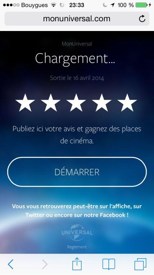 Notez le message «Chargement…» là où doit s'afficher le titre du film : je reviendrai sur les bugs en fin d'article.