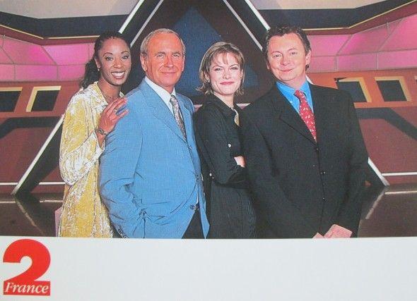 Pépita, Patrice Laffont, Claire Gautraud et Laurent Broomhead. Circa 1995.  Crédits : Icedtea sur PriceMinister, carte postale à vendre pour 3 euros +FdP seulement.