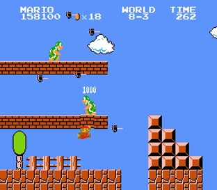Il casse quoi Super Mario ? Des briques. CQFD.