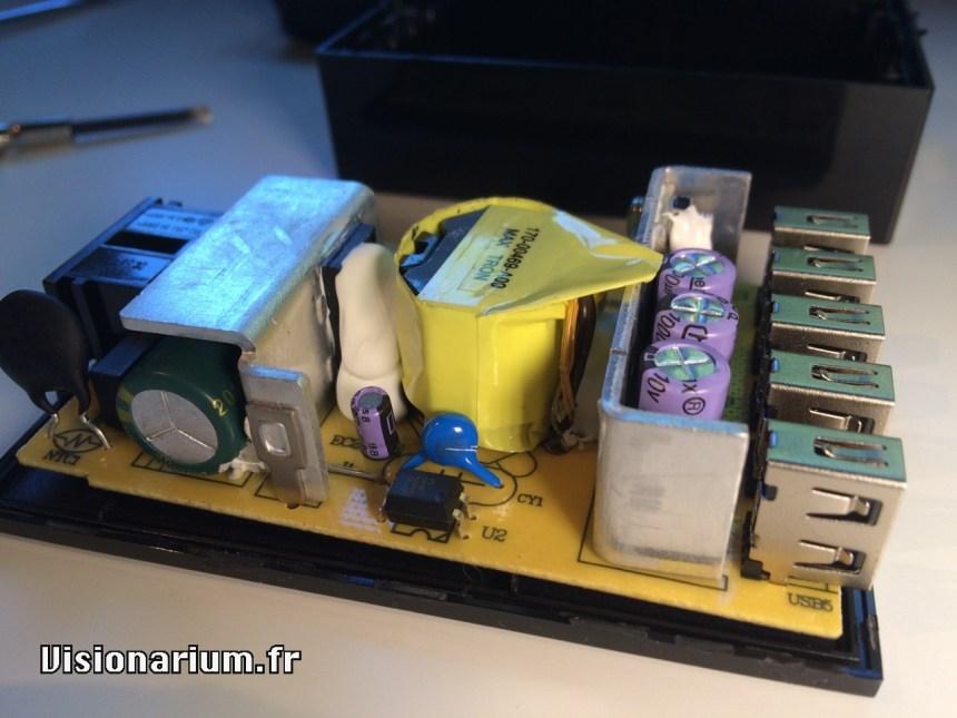 test chargeur Aukey sur Amazon : démonté