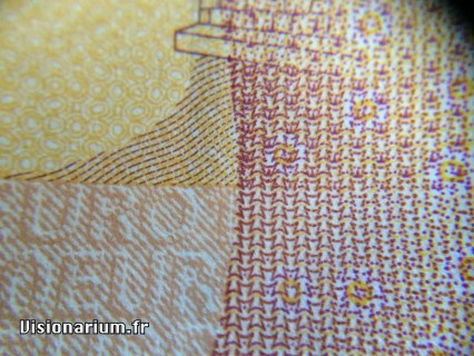 Détail d'un billet de dix euros.