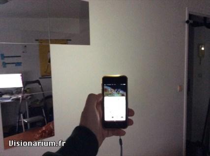…illumination du même mur avec un iPhone 5s.