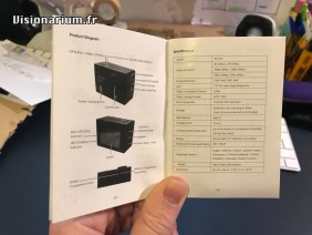 La fiche technique dans le manuel.