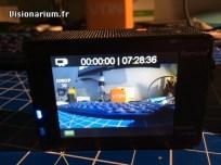 L'interface en plein filmage.