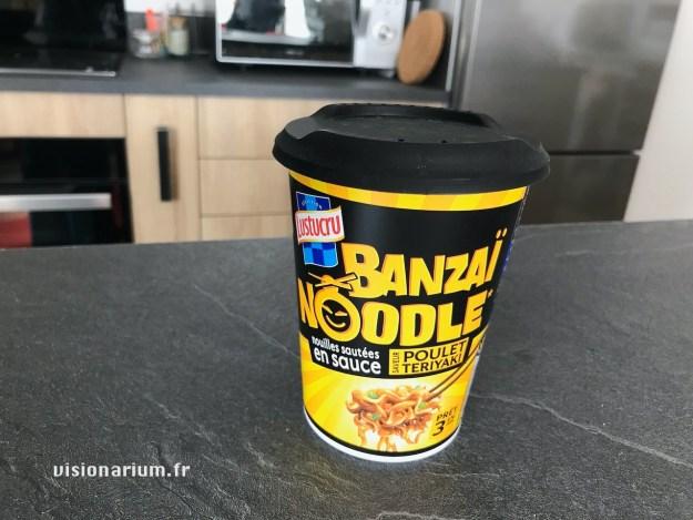 Un Banzaï Noodle saveur poulet teriyaki encore neuf