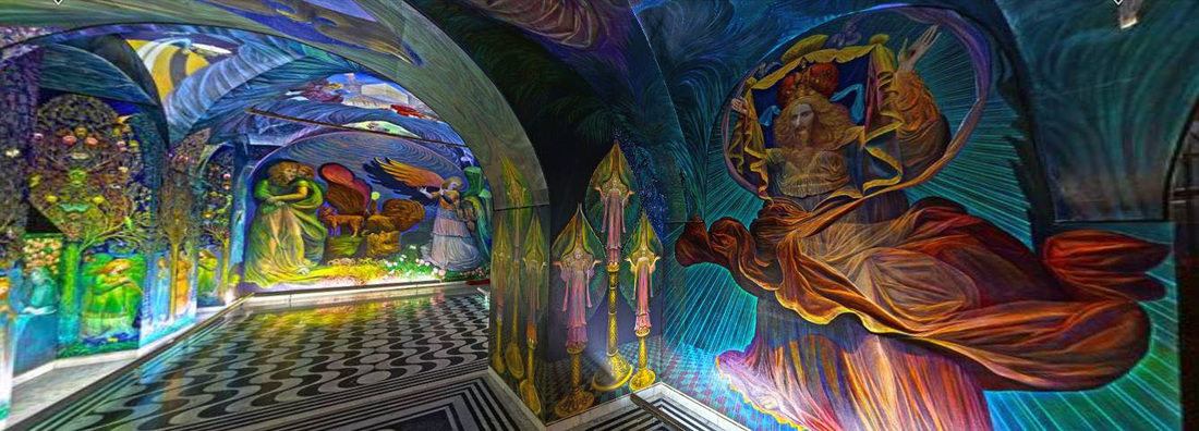 360° Panorama from the Apocalypse Chapel by Ernst Fuchs