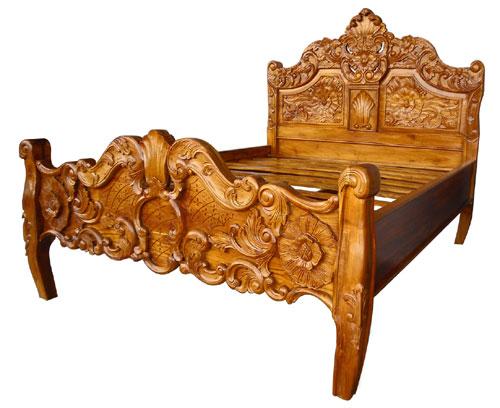teak bed  teak canopy bed made in Bali Indonesia