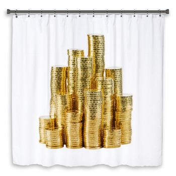 coin shower curtain