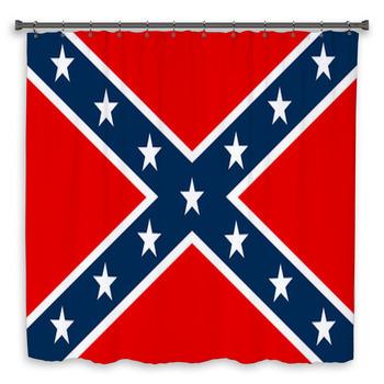 confederate flag shower curtain
