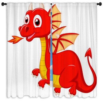 cute red dragon cart