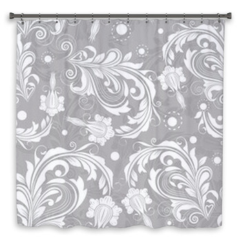 seamless bright floral vintage vector shower curtain