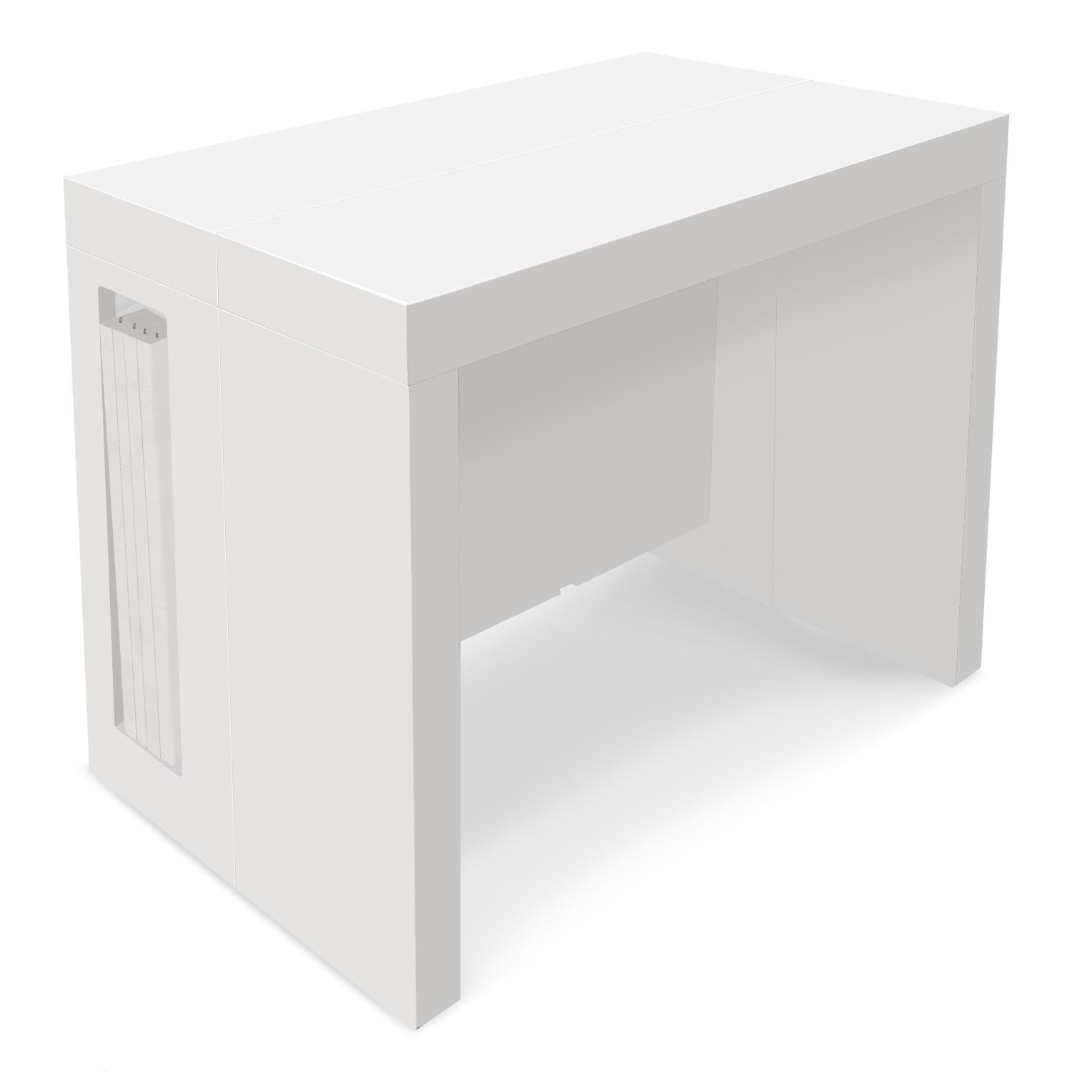 table console extensible chay blanc laque